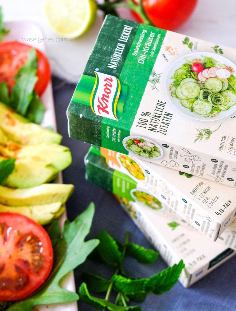 Salat Caprese mit gebratener Mango & Mozarella | Knorr Natürlich Lecker Salatdressing | waseigenes.com
