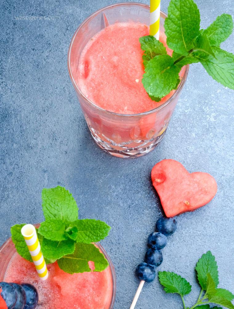Rezept: Sommer Drink: Frozen Prosecco | Frozen Drink | Wassermelonen Frosecco | waseigenes.com