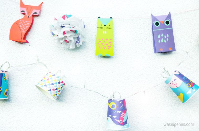 DIY Lichterkette aus Trink- und Eiskrem Bechern | waseigenes.com