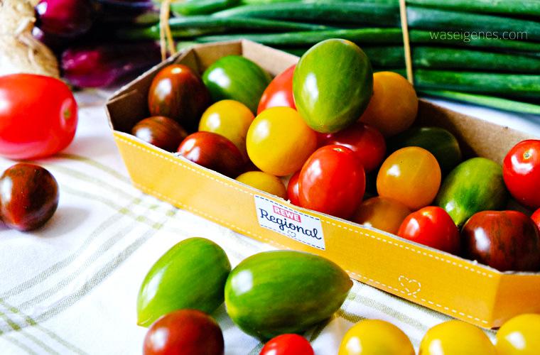 Tomaten aus der Region | REWE Regional | lauwarmer Tomatensalat mit selbst gemachtem Frischkäse | waseigenes.com