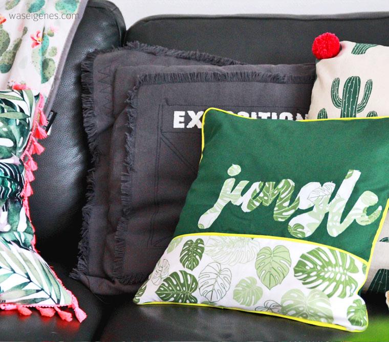 DIY Kissenbezug nähen | jungle Schriftzug | urban jungle | waseigenes.com
