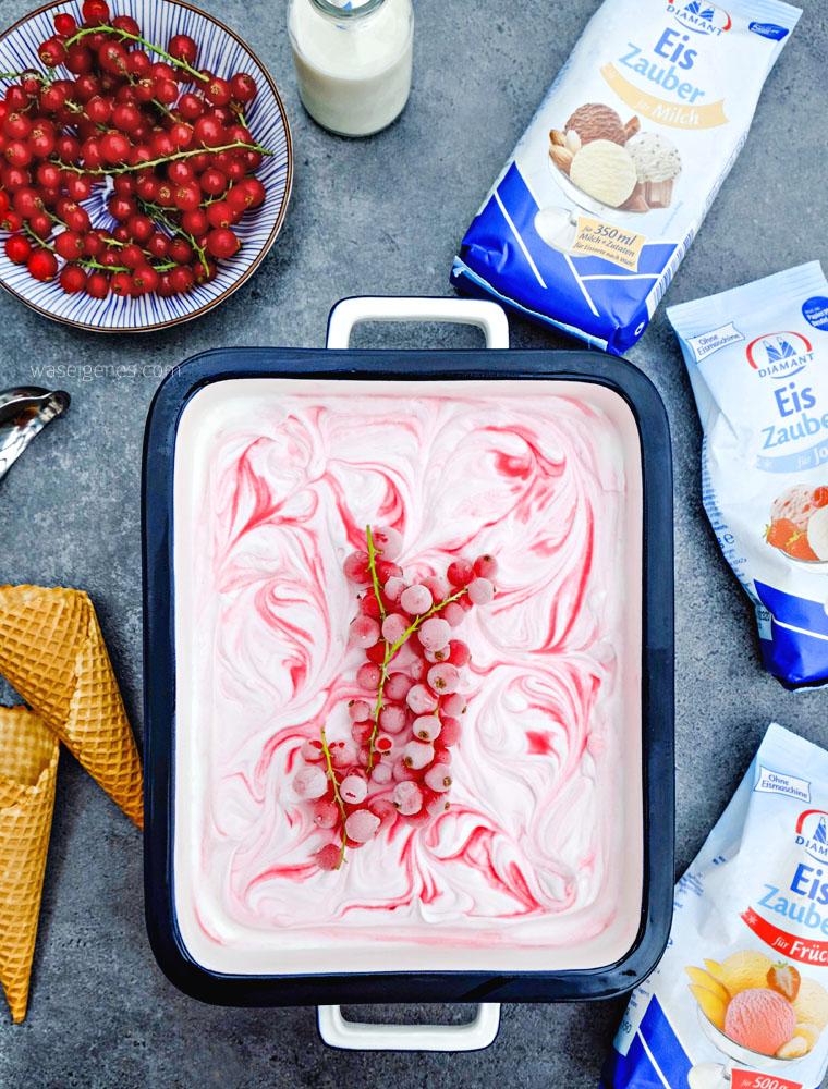 Rezept: Buttermilch Johannisbeer Eiscreme | waseigenes.com