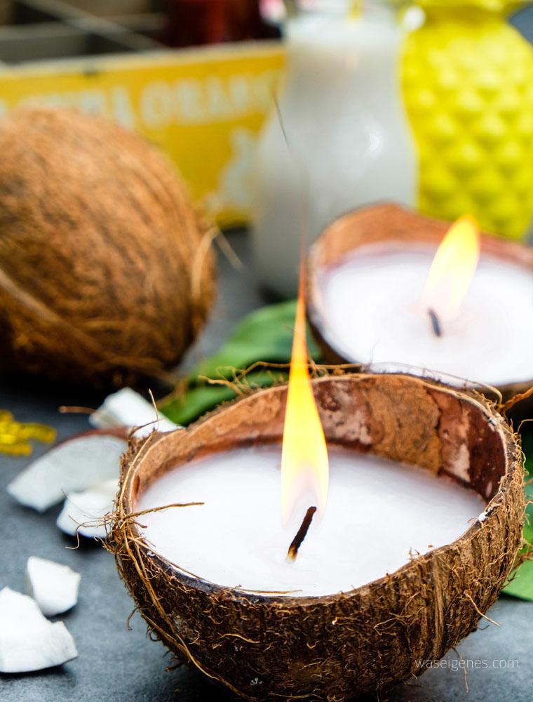 DIY Kokosnuss Kerzen | Kerzen gießen | Kerzen selber machen | waseigenes.com