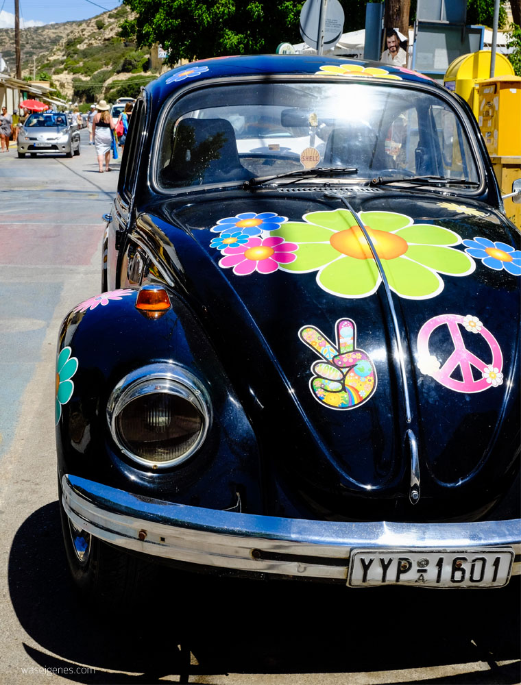 Kreta: Hippie Dorf Matala | Flower Poweer Käfer | waseigenes.com
