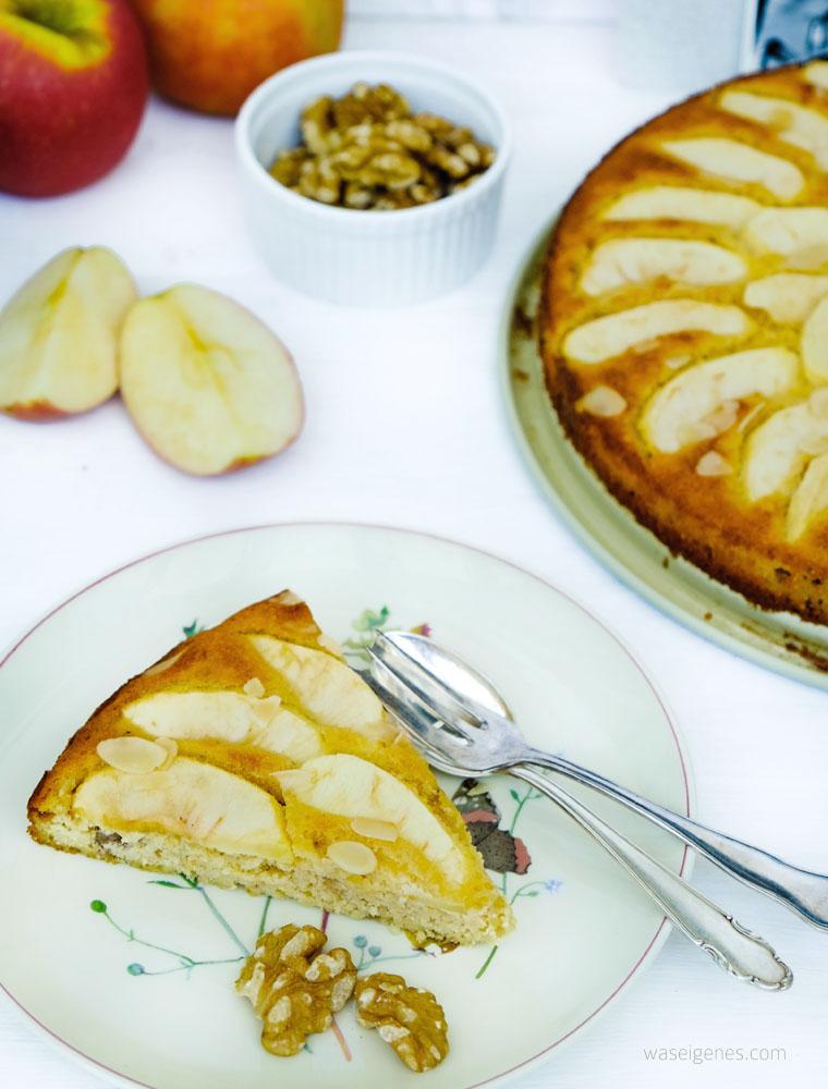 Rezept: Low carb Apfelkuchen mit Walnüssen | waseigenes.com