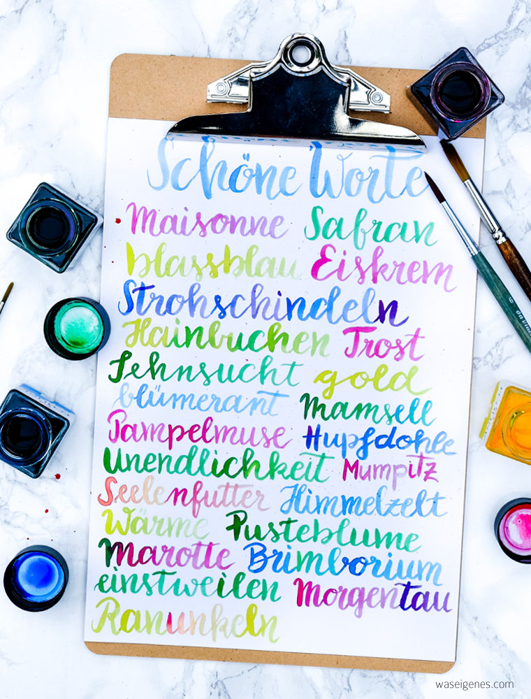 schöne Worte | vergessene Worte, schön klingende Worte | waseigenes.com