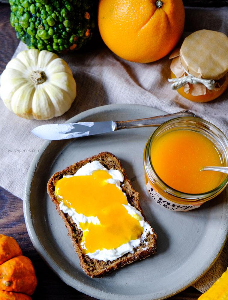 Rezept: Herbstliche Orangen Kürbis Marmelade selbst gemacht | waseigenes.com