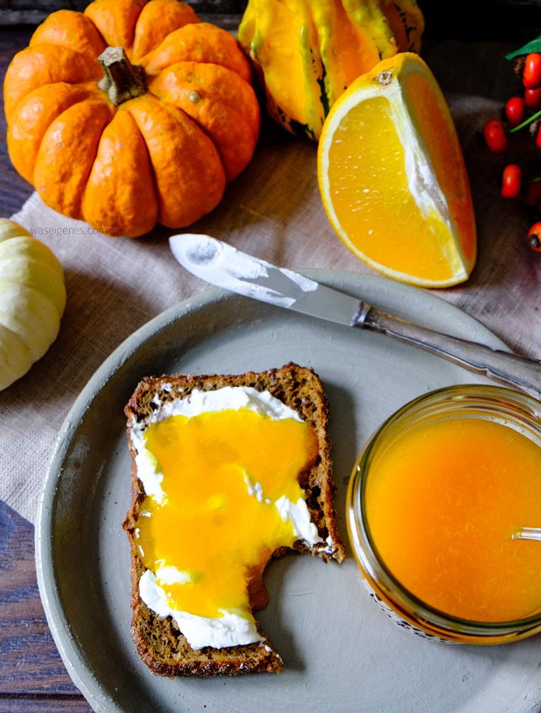 Rezept: Orangen-Kürbis-Marmelade | Kürbisse | Herbstideen in Hülle und Fülle: basteln, dekorieren, kochen & backen | waseigenes.com