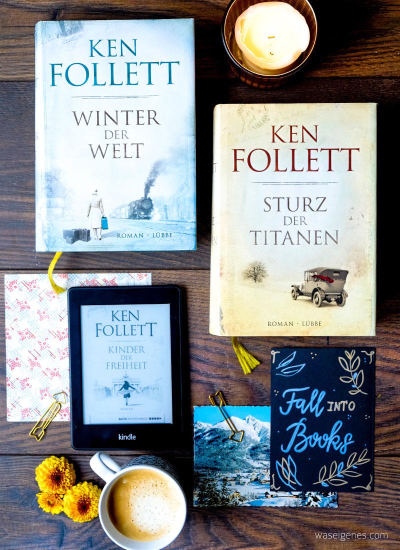 Buchtipp Ken Follett Jahrhundert Trilogie | Sturz der Titaten, Winter der Welt, Kinder der Freiheit | waseigenes.com DIY Blog