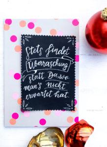Adventskalender der guten Gedanken | Stets findet Überraschung statt. Da wo man's nicht erwartet hat | Wilhelm Busch | waseigenes.com