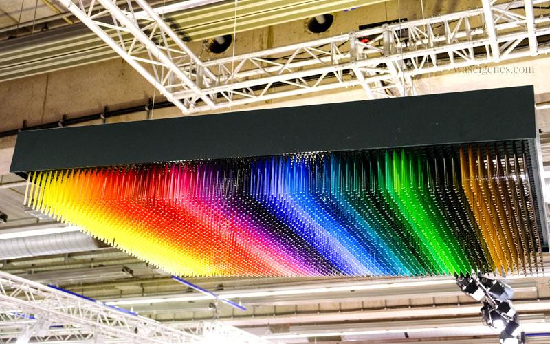 Buntstifte Display von Faber Castell, ein Foto von der Creativeworld Messe