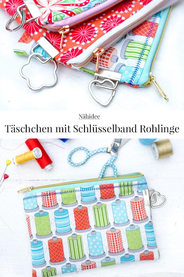 DIY: Täschchen nähen, mit Schlüsselband Rohling & Schlüsselring, #Nähidee #DIY #nähen #Täschchen #sewing #craftingidea #waseigenes DIY Blog