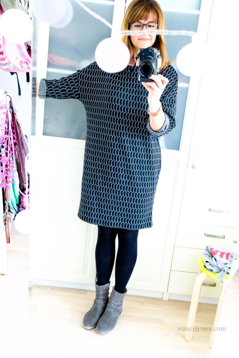DIY Strickkleid selber nähen | Kleid aus Strick Jacquard | Schnittmuster und Jacquard von Stoff & Stil | waseigenes.com