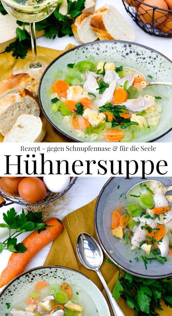 Gegen Schnupfennasen und für die Seele: Rezept für eine leckere Hühnersuppe mit Gemüseeinlage und Eierstich | vitaminreich durch den Winter #Hühnersuppe #Rezept waseigenes.com