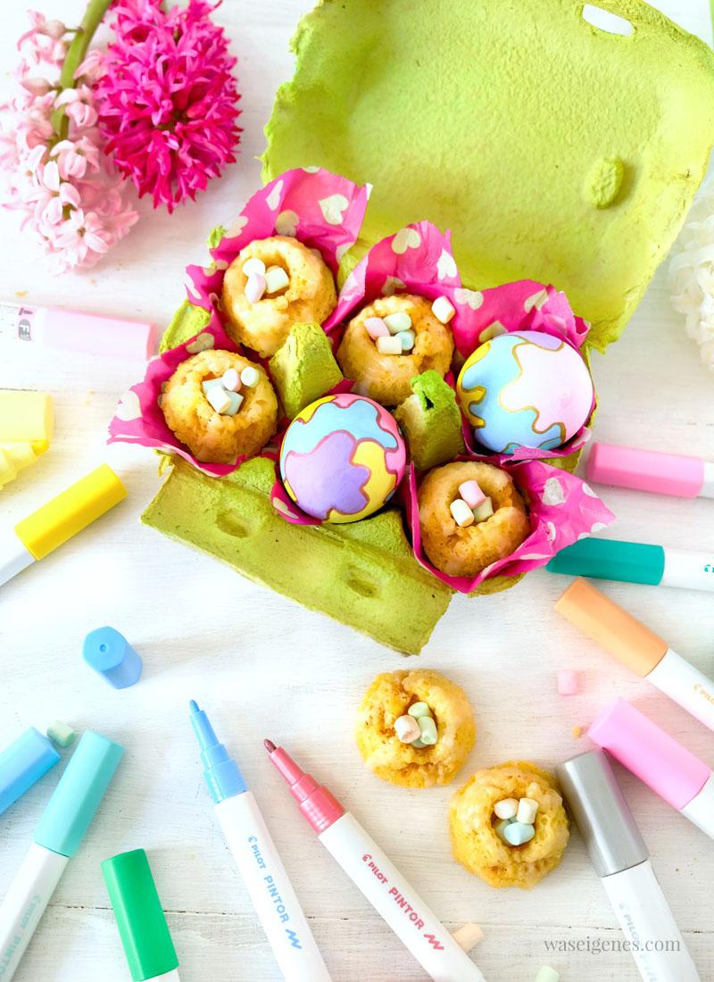 Minigugelhupf in bunten Eierkartons. Geschenke aus der Küche | waseigenes.com