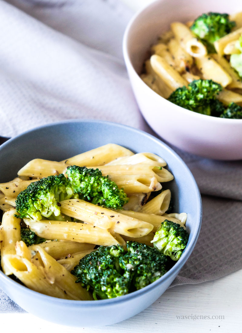 Rezept: Penne mit Brokkoli in cremiger Gorgonzola-Sahnesoße | waseigenes.com