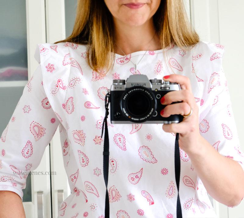 DIY Bluse: selbst genähte Bluse, Schnittmuster Frau Smilla | waseigenes.com