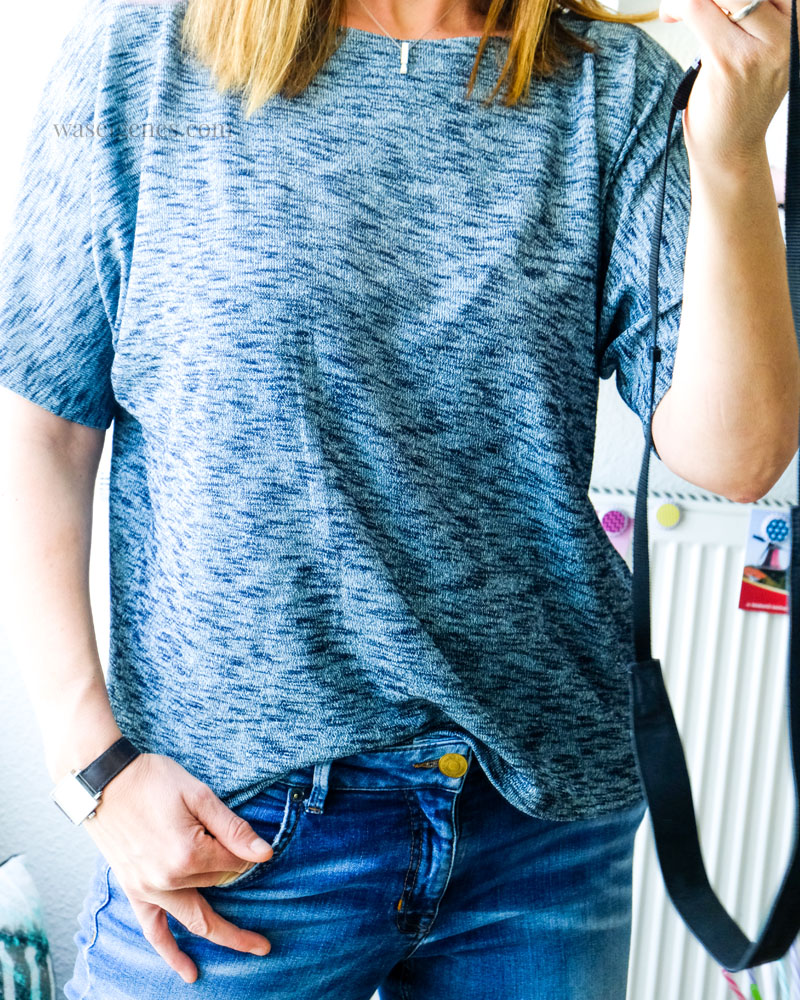 DIY Sommer Shirt aus leichtem Strickstoff | Schnittmuster Frau Edda | waseigenes.com