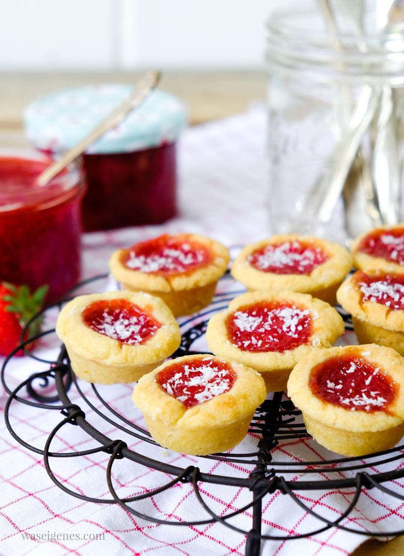 Rezept Marmeladentörtchen mit Erdbeer-Kokos-Marmelade | waseigenes.com