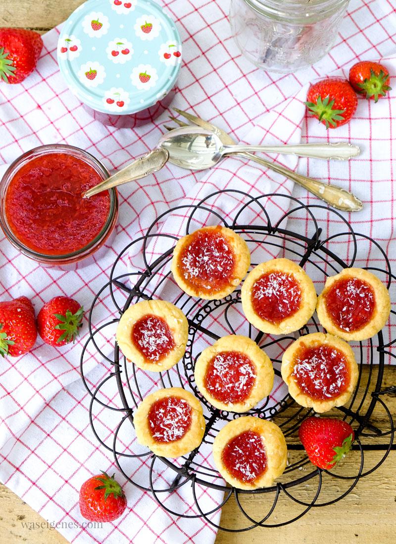Rezept: Erdbeer-Kokos-Marmelade & Marmeladentörtchen | waseigenes.com