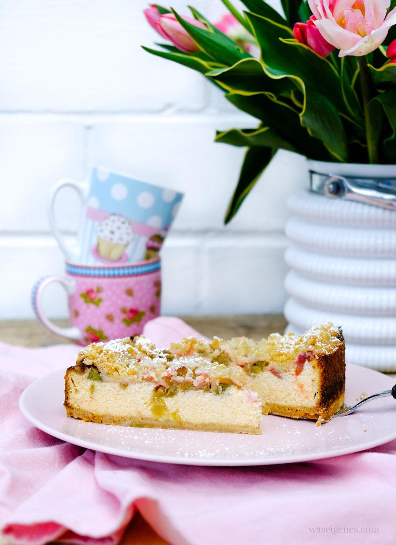 Rhabarber Quarkkuchen Mit Streuseln Rezept Mit Und Ohne Thermomix