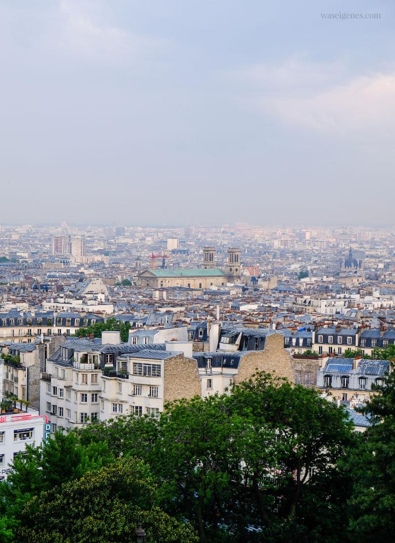 Paris: Blick von der Basilika Sacré-Cœur de Montmartre auf die Stadt (Notre-Dame de Paris) | waseigenes.com
