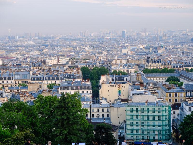 Paris: Blick von der Basilika Sacré-Cœur de Montmartre auf die Stadt | waseigenes.com