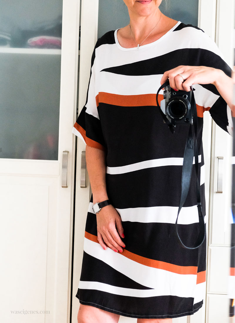 Selbst genähtes Sommerkleid aus Blockstreifen Soff | waseigenes.com
