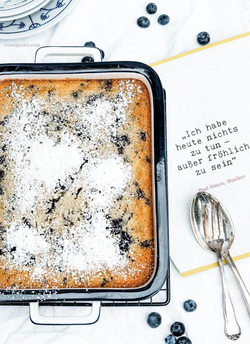 Rezept (mit und ohne Thermomix): Warmer Blaubeer-Grieß-Auflauf | waseigenes.com