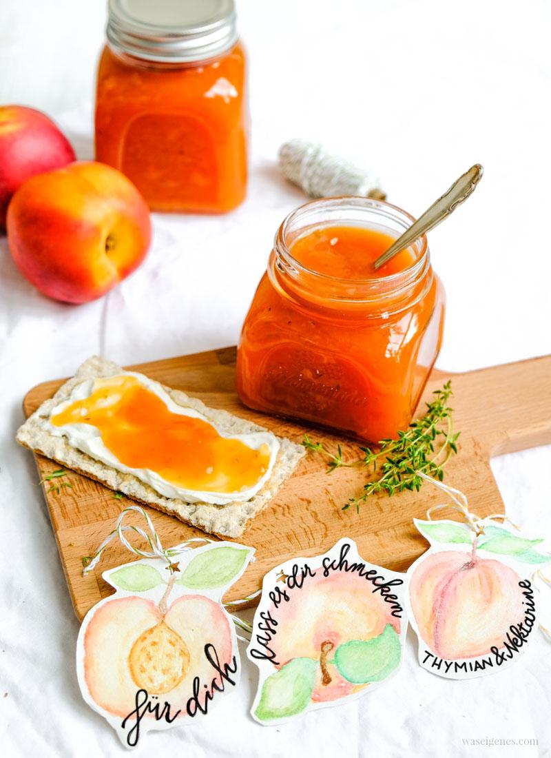 Rezept: Nekatrinen Thymian Marmelade | selbst gekocht - Geschenk aus der Küche | waseigenes.com