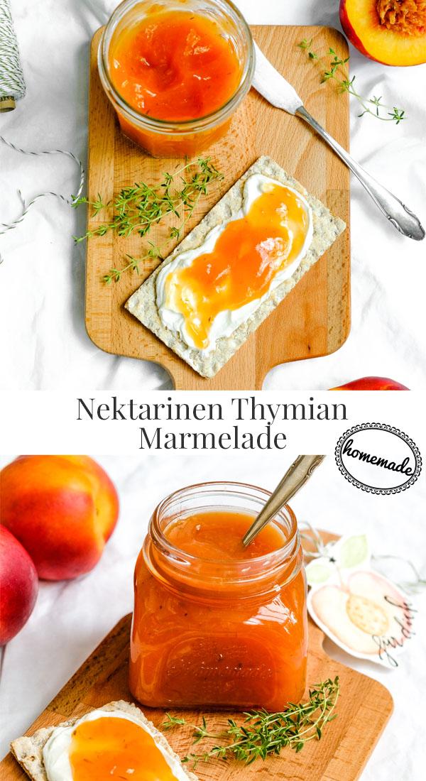 Rezept Nektarinen Thymian Marmelade | Marmelade selber kochen | waseigenes.com