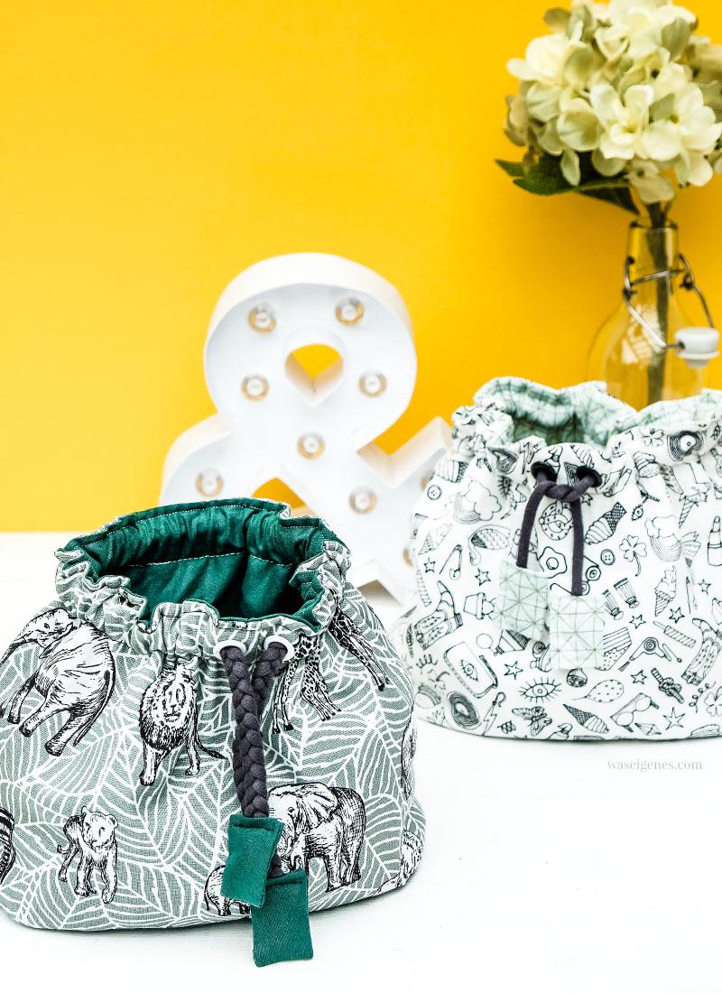 Nähanleitung: Pompadour Stoffbeutel für Kosmetik & anderen Kleinkram | waseigenes.com