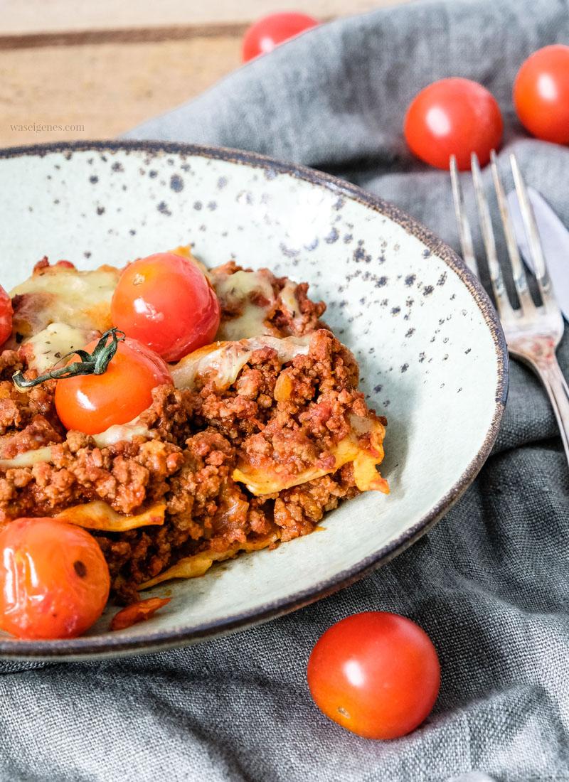 All-time-favorite: Lasagne | Mein Lieblingsrezept mit Mozzarella & Cherrytomaten | waseigenes.com