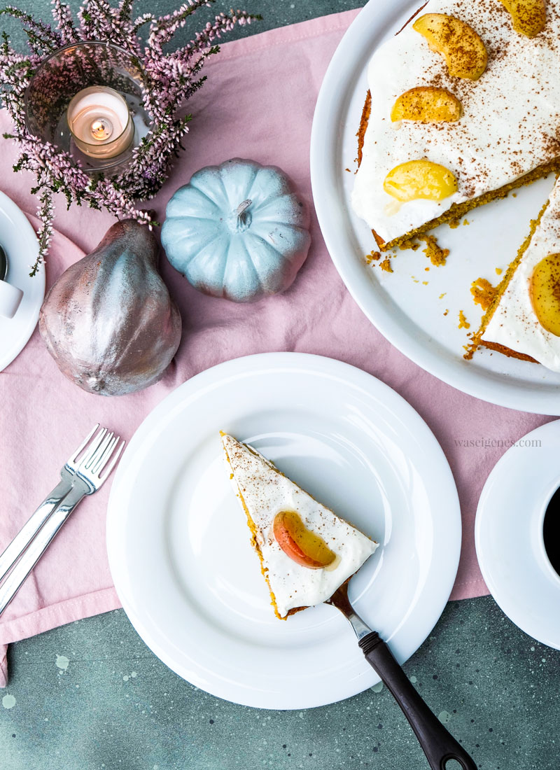 Rezept: Kürbis-Apfelkuchen | #kürbis #apfel #kürbisapfelkuchen #rezept | waseigenes.com