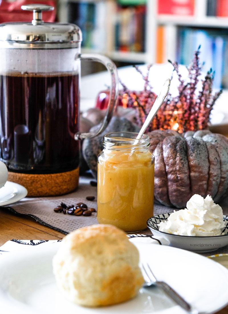 Kaffee, Scones & selbst gemachtes Apfel-Quitten-Kompott | waseigenes.com