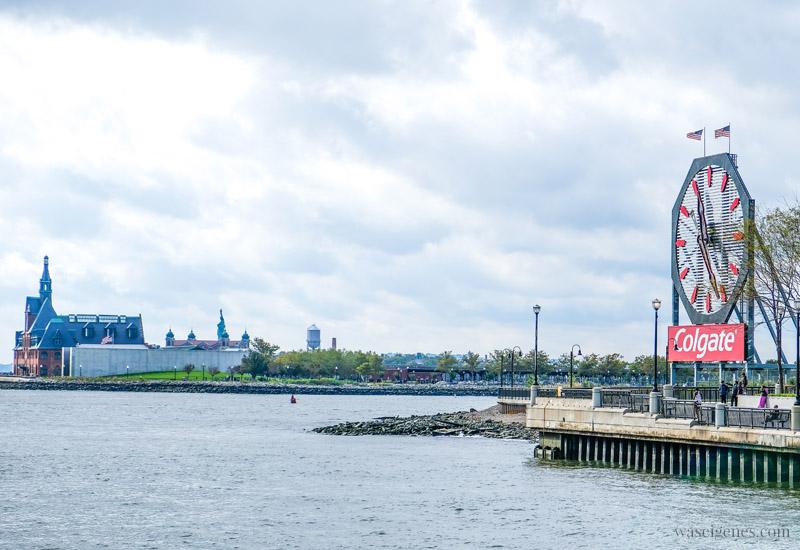 New Jersey, Jersey City, Exchange Place, Manhattan Skyline, NY Waterway, Colgate Uhr, waseigenes.com