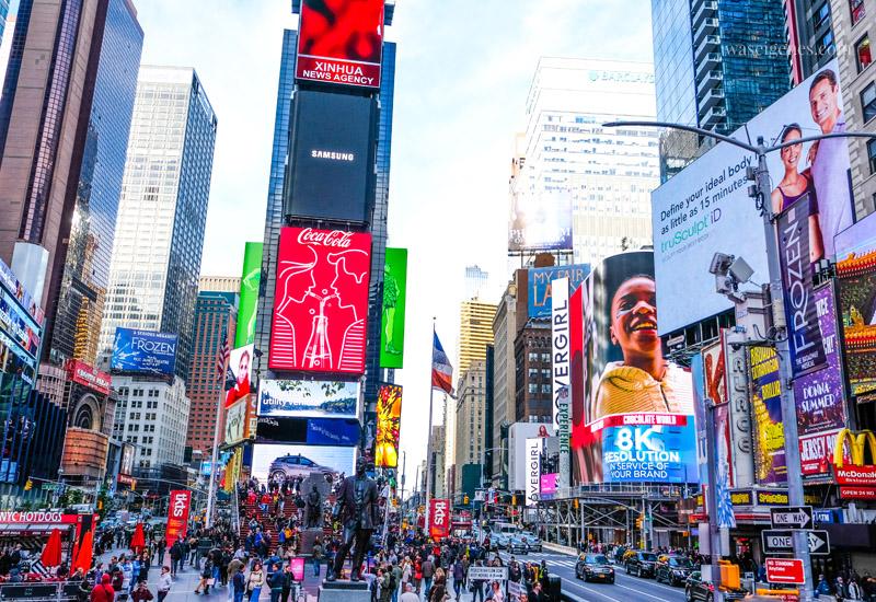 Travel New York City, Manhattan, Sightseeing, Städtetrip, Time Square, waseigenes.com