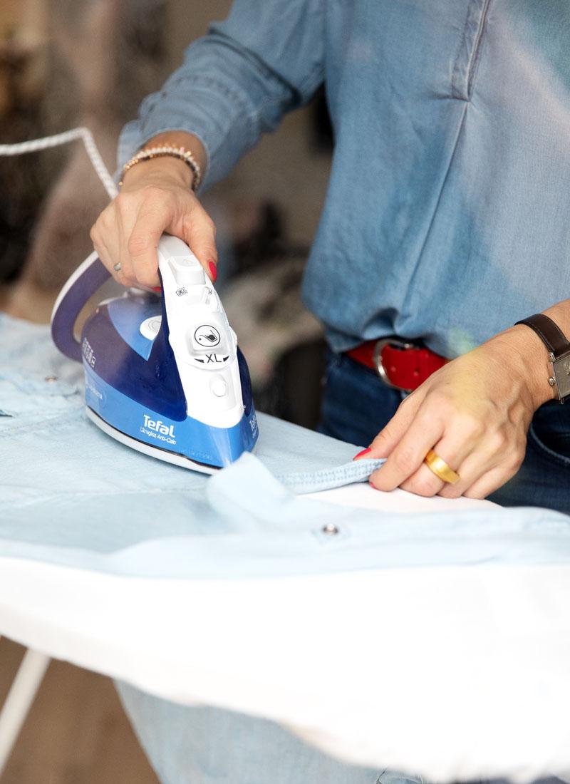 Gut gebügelt ist halb genäht | Zum Nähen benötigt man nicht nur eine Nähmaschine, sondern auch ein gutes Bügeleisen | TEFAL ultragliss anti-kalk, waseigenes.com