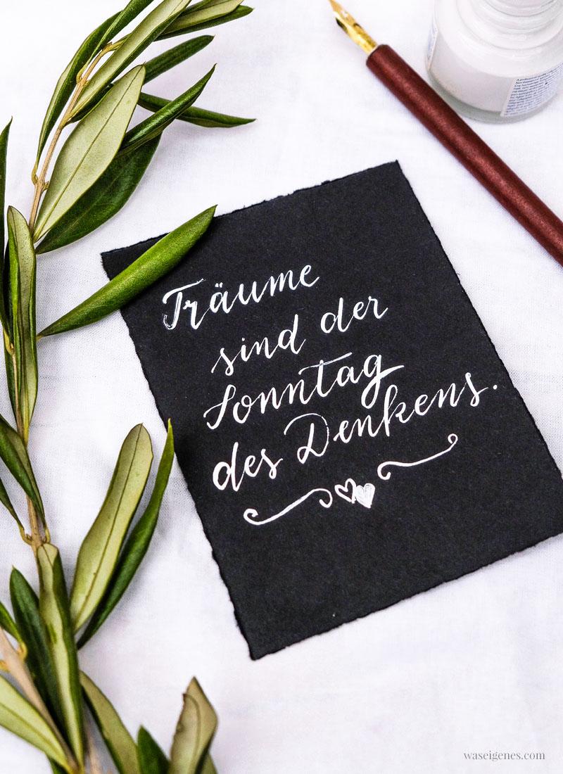 Adventskalender der guten Gedanken & Wünsche | Türchen Nr. 2: Träume sind der Sonntag des Denkens, waseigenes.com