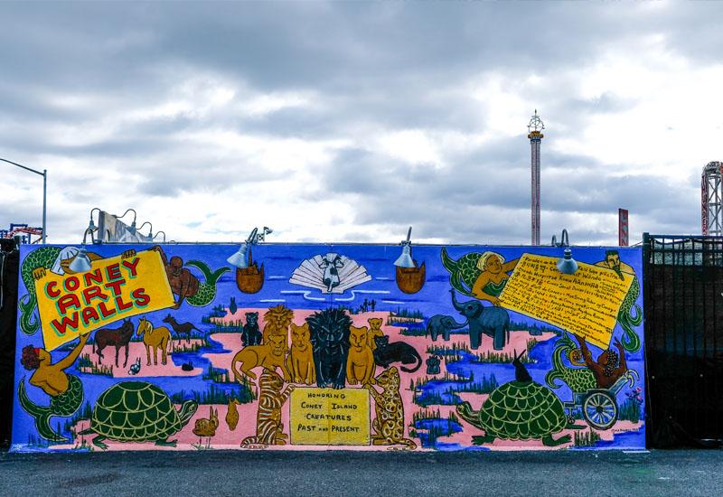 Travel New York City: Coney Island Vergnügungspark, waseigenes.com #coneyisland #newyorkcity #brooklyn #kirmes #vergnüngungspark #coneyartwalls