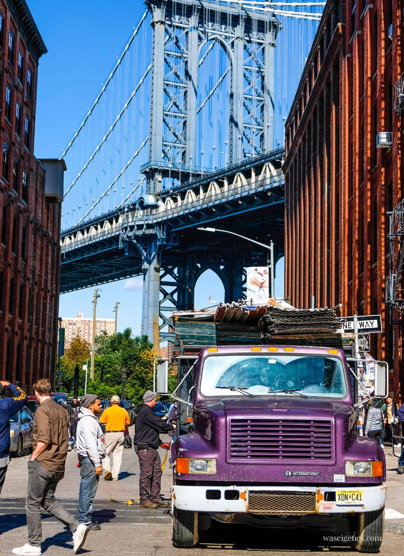 New York City: Manhattan Bridge | Dumbo | Sightseeing Städtereise | waseigenes.com #ManhattanBridge #NYC