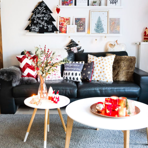 Unser Wohnzimmer, #weihanchten #rot #gold #grau waseigenes.com