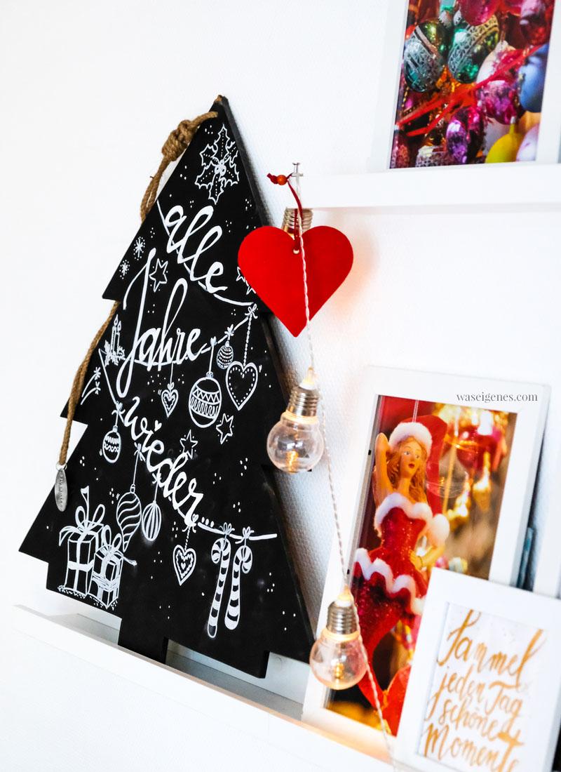 DIY Handlettering - Weihnachtsbaum-Tafel - Alle Jahre wieder, waseigenes.com