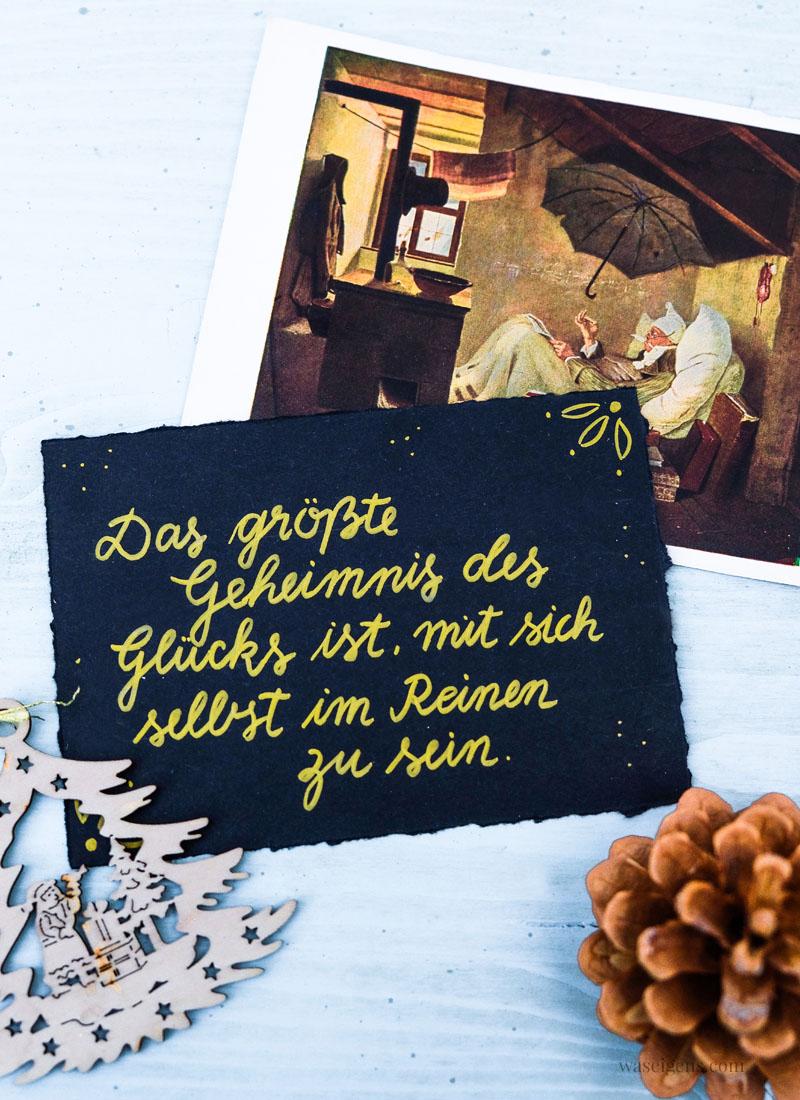 Adventskalender der guten Gedanken & Wünsche - Türchen Nr. 18: Das größte Geheimnis des Glücks ist,mit sich selbst im Reinen zu sein. | waseigenes.com