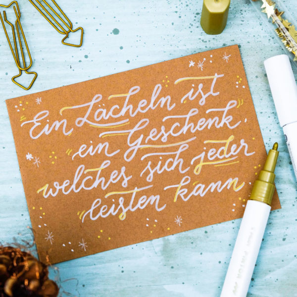 Adventskalender der guten Gedanken & Wünsche | Türchen Nr. 9: Ein Lächeln ist ein Geschenk, welches sich jeder leisten kann. | waseigenes.com