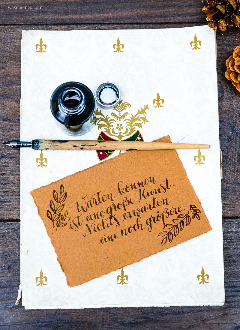 Adventskalender der guten Gedanken & Wünsche - Türchen Nr. 14: Warten können ist eine große Kunst.Nicht erwarten eine noch größere. {Ingrid Bergman}