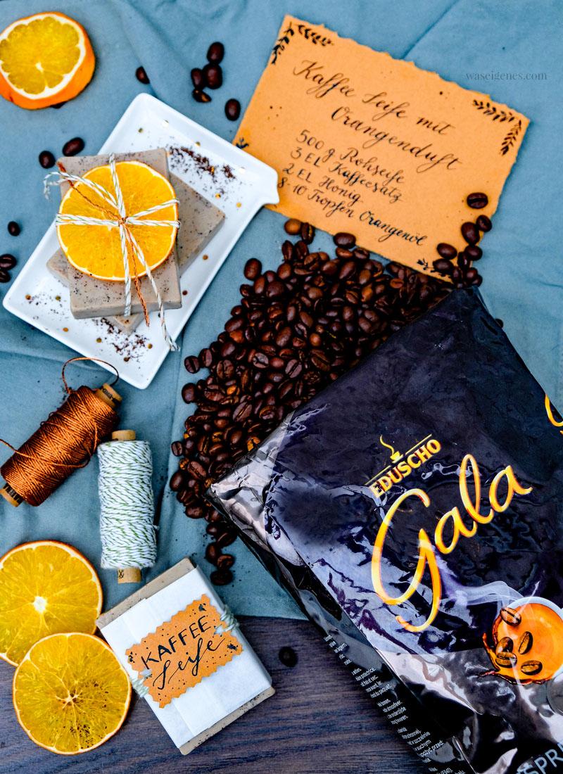 DIY Kaffee Seife, Kaffee Seife mit Orangenduft selber machen, Schritt-für-Schritt-Anleitung, waseigenes.com | #kaffeeseife #diy #seifeselbermachen #waseigenesblog
