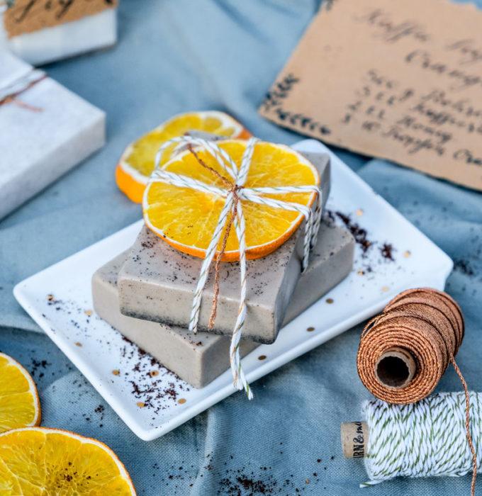 DIY Kaffee Seife, Kaffee Seife mit Orangenduft selber machen, waseigenes.com