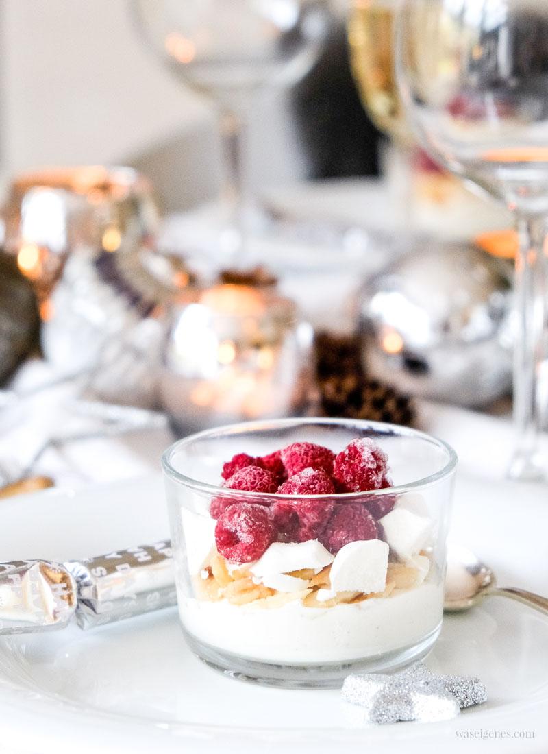 Dessert Rezept: Himbeertraum mit Mascarpone, Mandelsplitter und Baiser, waseigenes.com