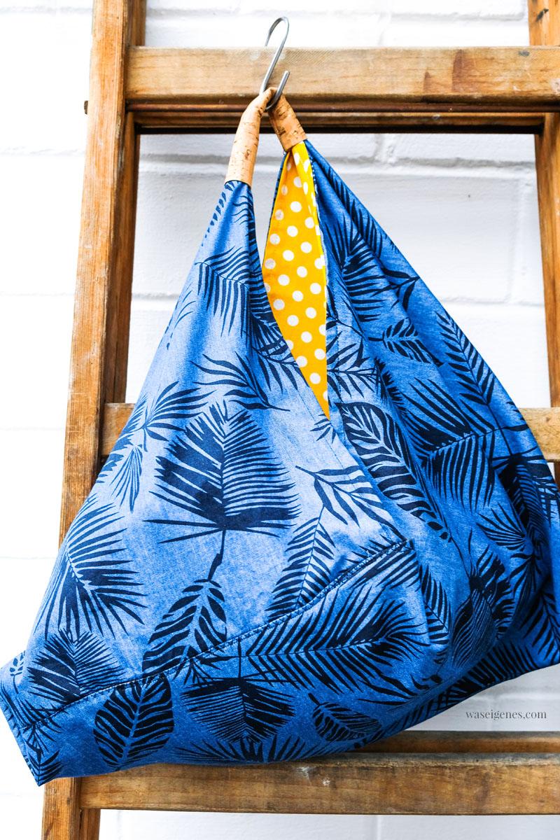 Taschen selber nähen, Origami Tasche, Triangle Bag, Origami Bag, waseigenes.com